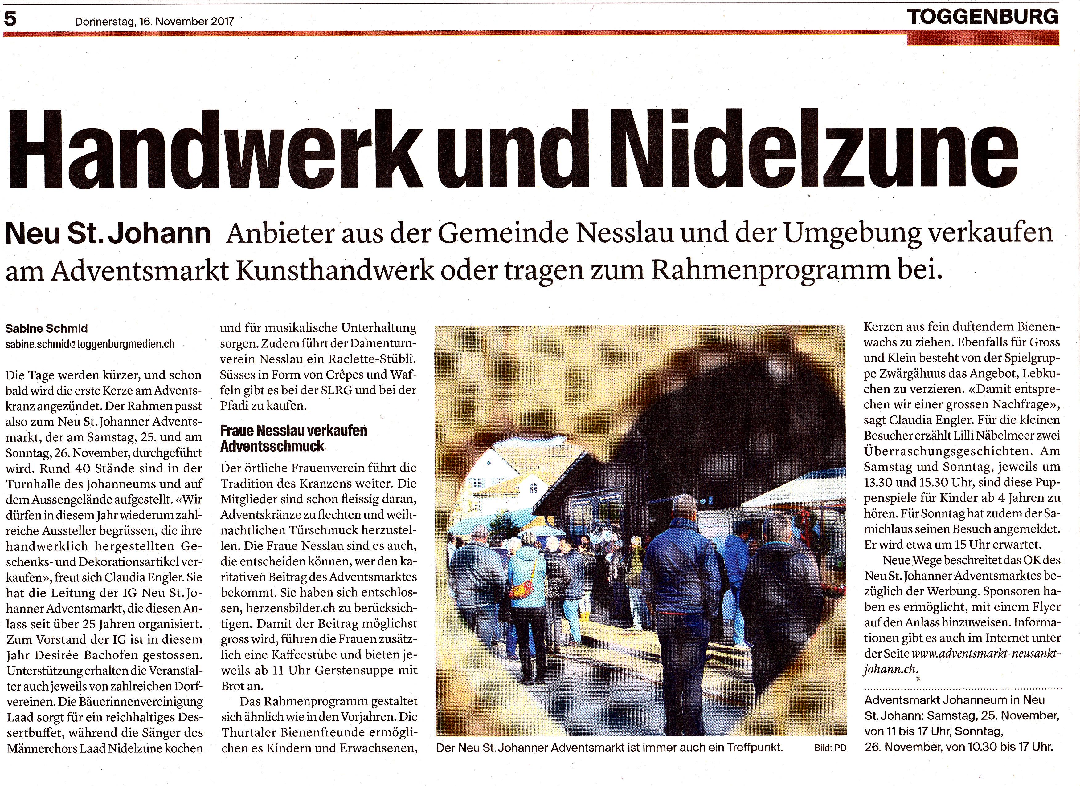 Zeitungsberichte - Adventsmarkt